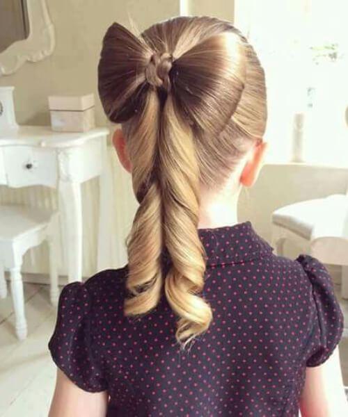 hair bows peinados de niña