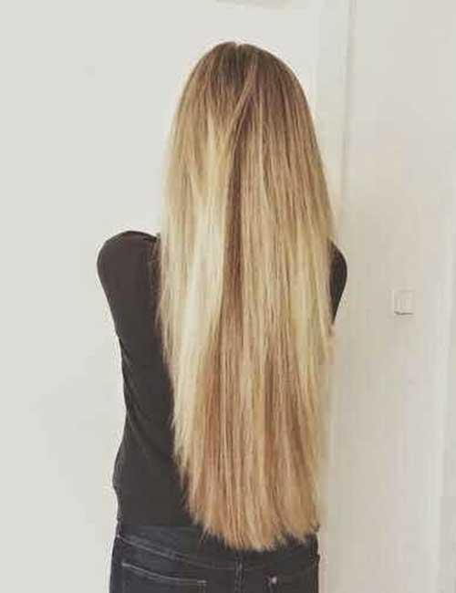 Peinados rubios largos y rectos