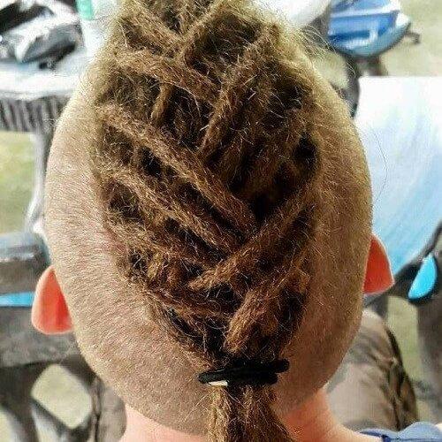 Mohawk peinados para hombres con rastas