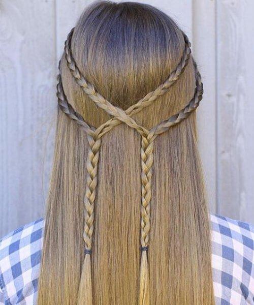 lazos sencillos peinados de niña