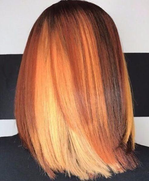 colores de otoño tejer peinados
