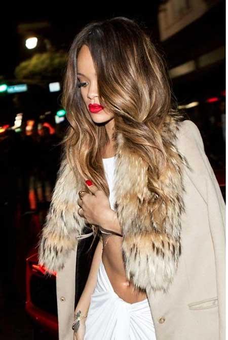 Rihanna Fashion Hair Journey, Piel, Rihanna, Piel Sintética, Chaleco De Piel, Balayage