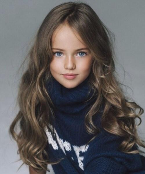 olas naturales peinados de niña