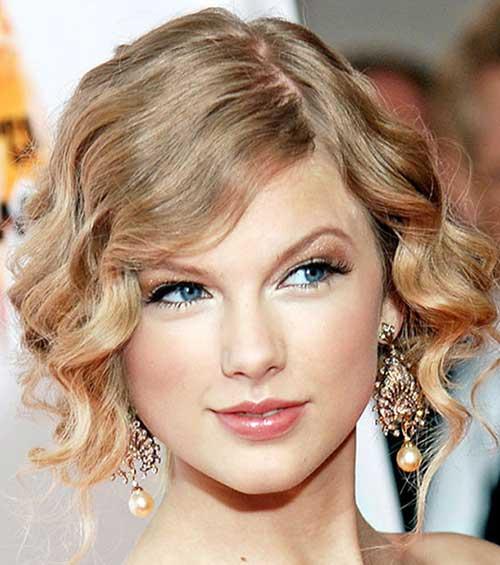 Estilos de Taylor Swift Prom para cabello corto