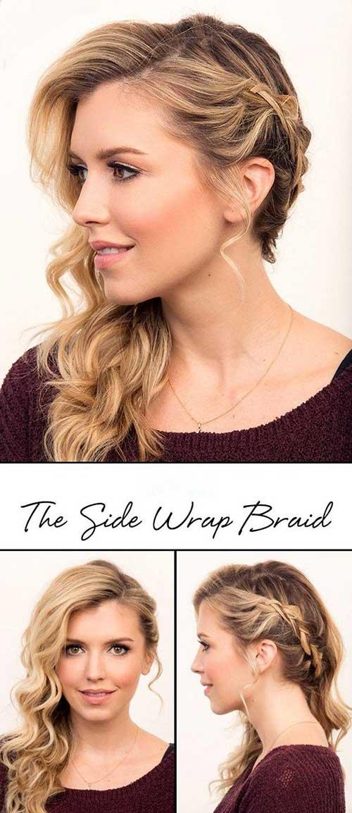 Side Swept trenzado peinados