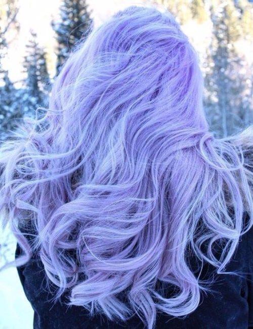 pelo púrpura pastel claro