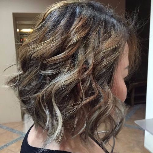 bob haircut ash blonde highlights