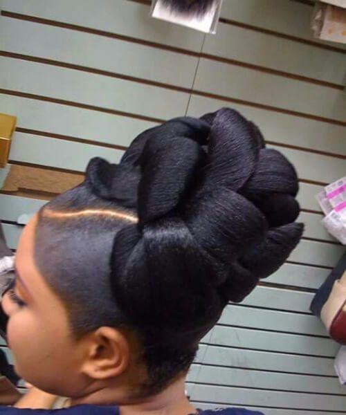 sofisticados peinados de tejer bollo