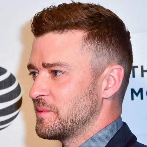 Peinados Justin Timberlake con socavados
