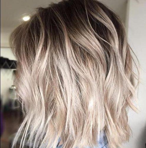 ondas de playa bob balayage color de pelo