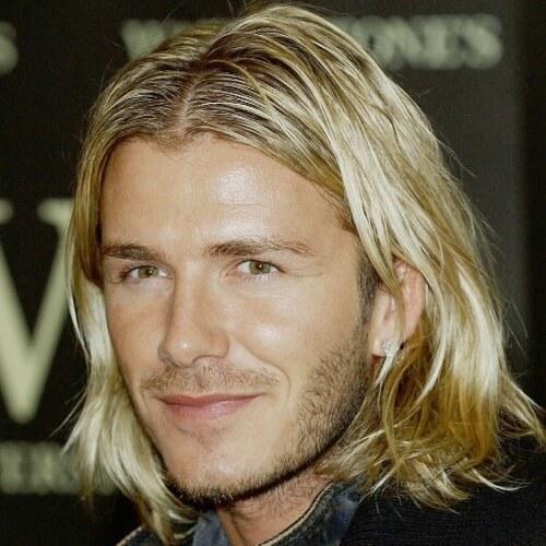 Longitud de los hombros Peinados de David Beckham