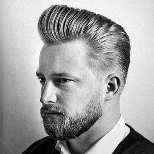 peinados de pomp retroceso para los hombres