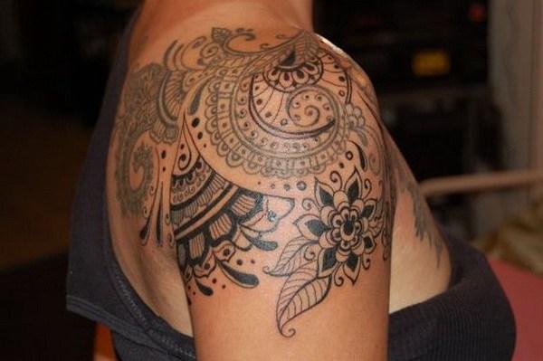 Diseño de tatuaje de hombro