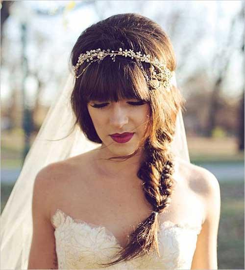 Nuevo y bello cabello bohemio de la boda