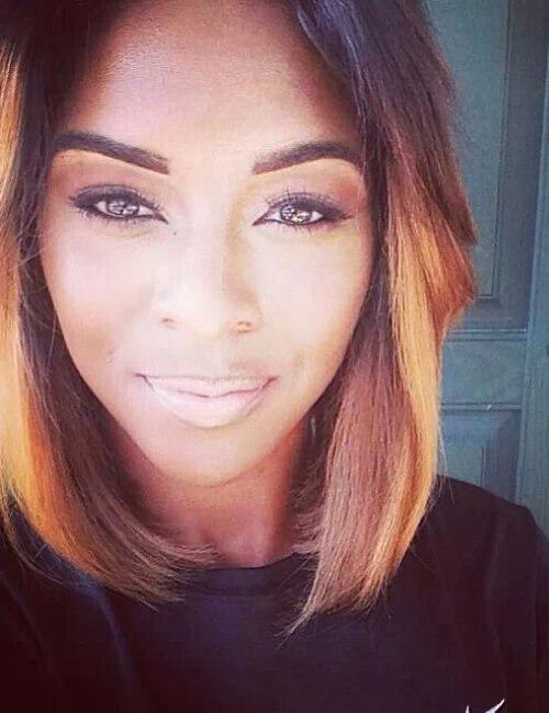 peinados cortos ombre corto natural para mujeres negras
