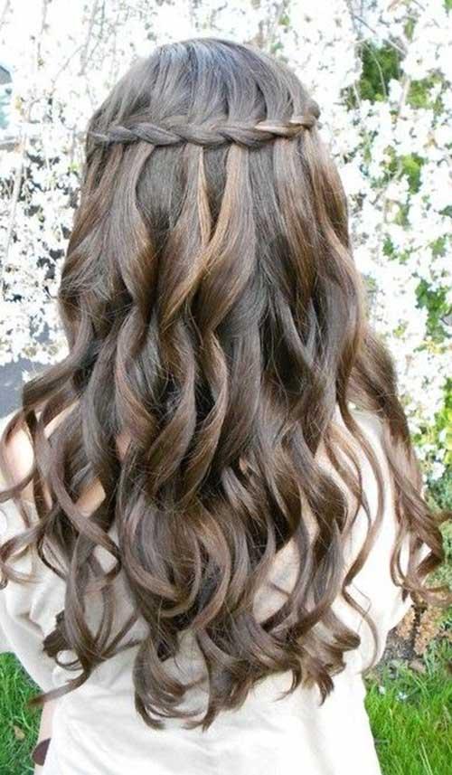 Lindos y largos peinados rizados-19