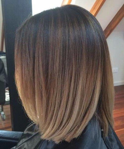 pelo corto mezclado balayage