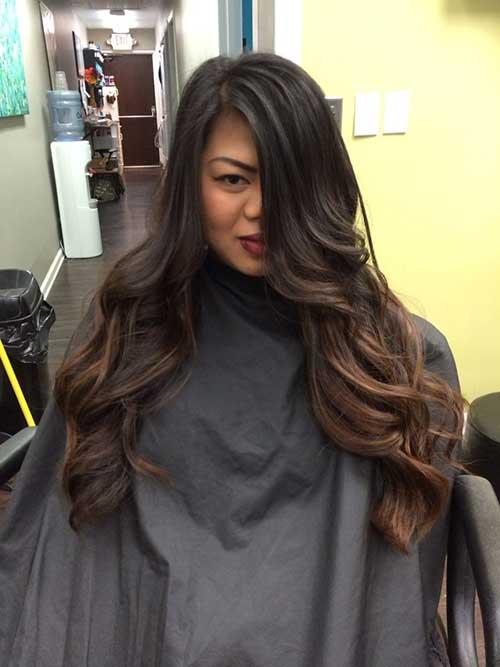 Peinados largos marrones oscuros-16