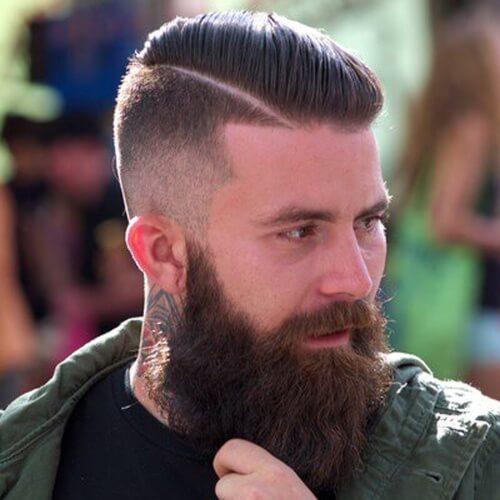 Corte de pelo duro de la parte diagonal