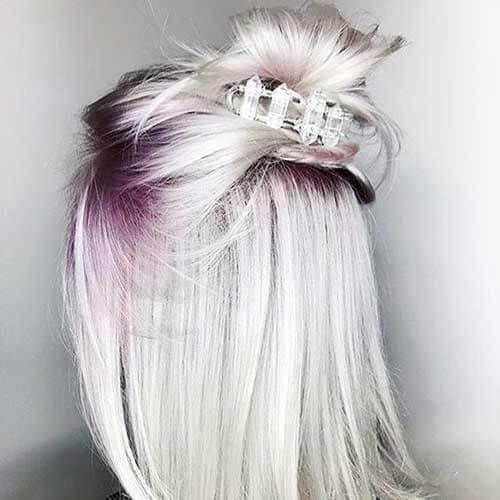 peinados rubios de uva platino