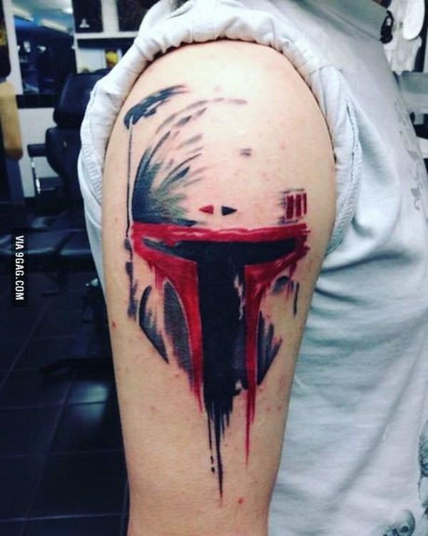 Boba Fett Hombro Tatuaje.