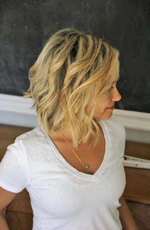Peinados cortos Beachy Waves