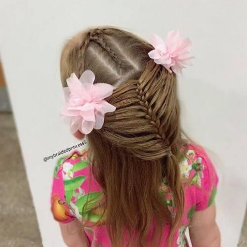 peinado trenzado para cabello largo