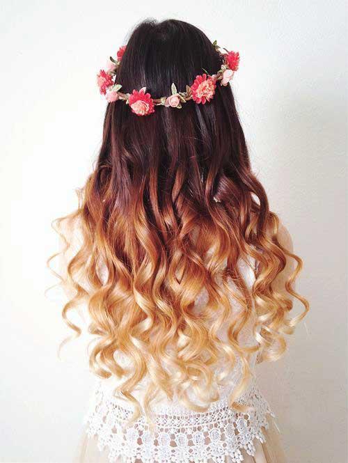 Lindos y largos peinados rizados-24