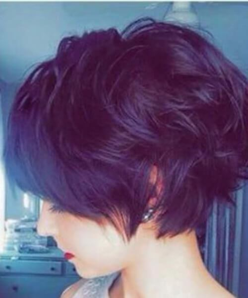 Angie Long Pixie Cut para cabello ondulado