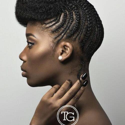 updo trenzado para cabello negro