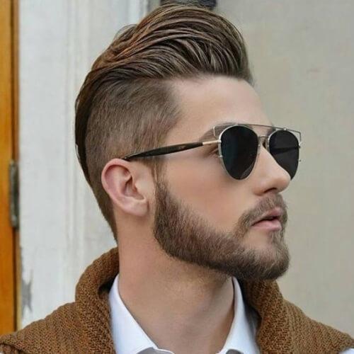 Peinado grueso inspirado retro