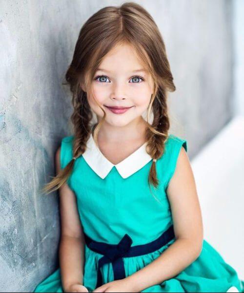 coletas tradicionales peinados de niña
