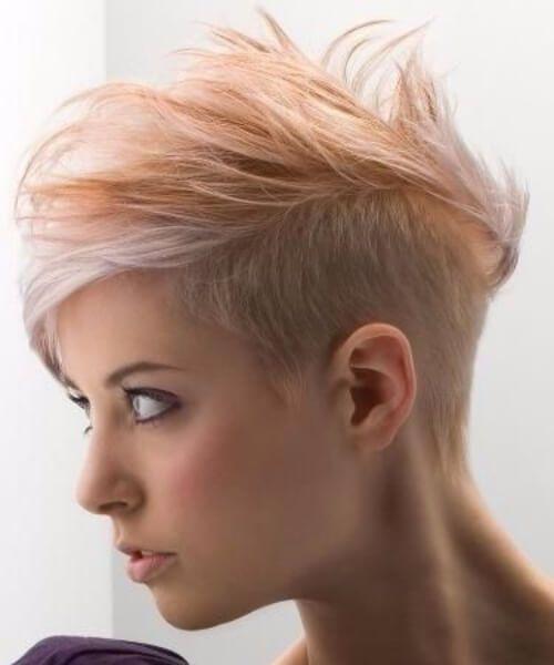 lavado de peinados de mandarina socavados para el cabello fino