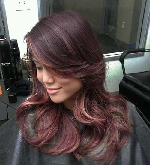 Los mejores momentos destacados de Rose Gold en Brunette Hair 2016