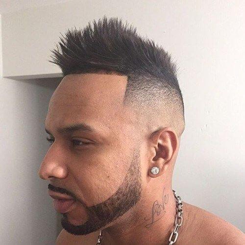 Temp fade peinados puntiagudos para hombres