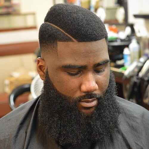 Peinados negros únicos con barbas