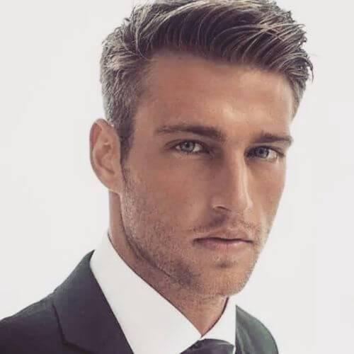 peinados para hombres con pelo fino corte con clase