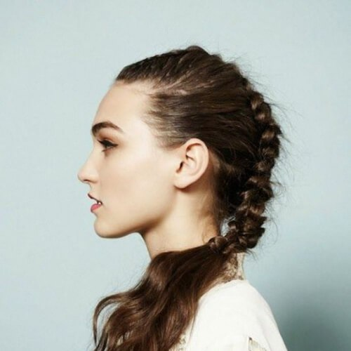 trenza peinados frescos para niñas