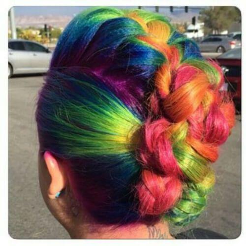 arco iris trenzado mohawk