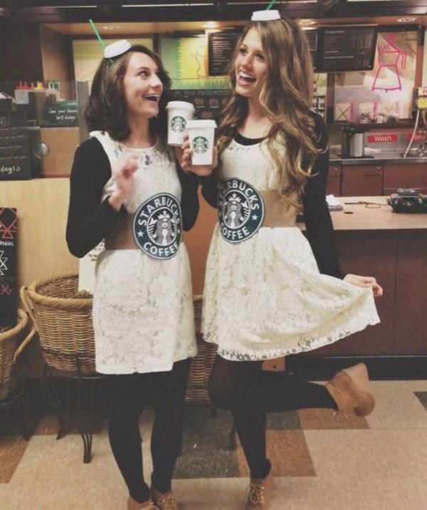 Trajes de Starbuck Drinks Girl Best Friend.