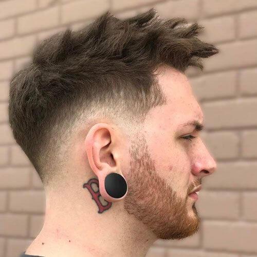 Peinados espigados gruesos