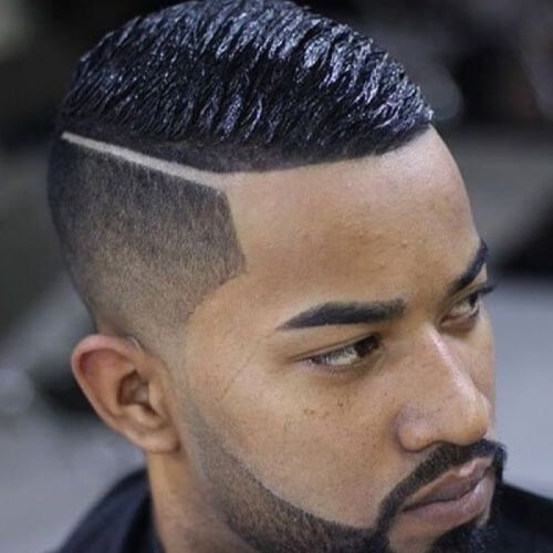 Wave Cut con Bald Fade