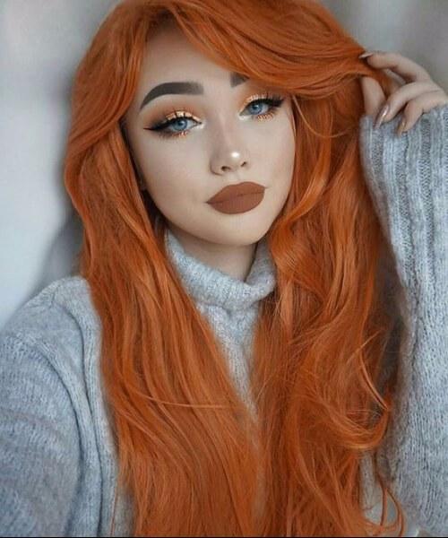 especia de calabaza caída de cabello colores