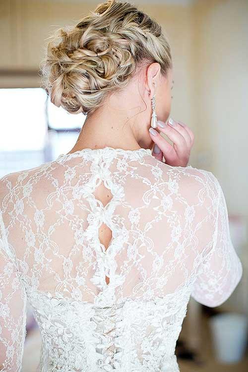 Trenzas para el cabello de la boda Vista posterior