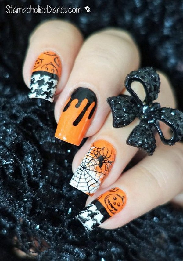 Halloween Nail Art. Ideas de arte de uñas de Halloween.