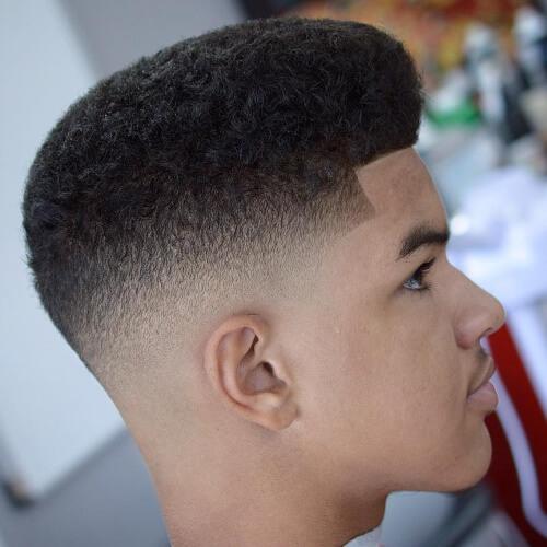 Box Fade corte de pelo para hombres negros