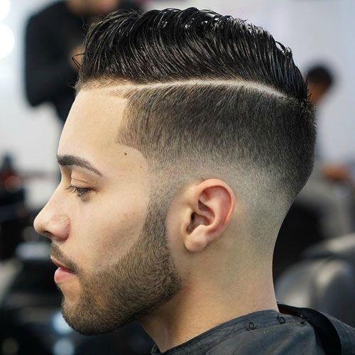 Faux Hawk cortes de pelo para hombres con la parte dura