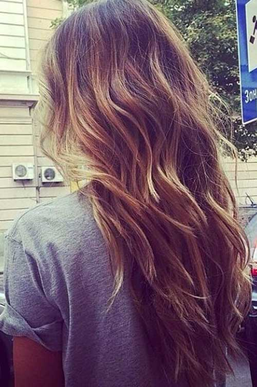 Cortezas de pelo largo ondulado-22