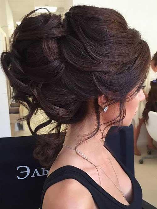 Bollos de pelo de la boda