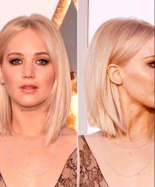 Jennifer Lawrence pelo rubio corto